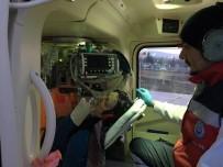 YAŞLI KADIN - Kalp Hastası Kadının Yardımına Ambulans Helikopter Yetişti