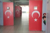 ÖMER HALİSDEMİR - Okulda Kapılar Türk Bayrakları Ve 15 Temmuz Kahramanları İle Süslendi
