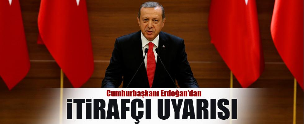 Cumhurbaşkanı Erdoğan'dan 'itirafçı' uyarısı