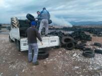 BÜYÜKŞEHİR BELEDİYESİ - Manavgat'ta Eski Araç Lastikleri Toplanıyor