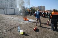 BENZIN - Polislere Yangın Söndürme Tatbikatı