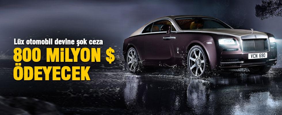 Rolls Royce 800 milyon dolar rüşvet cezası ödeyecek