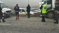 ESKIKÖY - Çorum'da Trafik Kazası Açıklaması 1 Yaralı