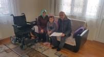 TEKERLEKLİ SANDALYE - Engelli Minik Sena Teşekkürünü Resimle Anlattı