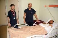 İŞ KAZASI - Erbil'de Çukura Düşerek Yaralanan Genç Cizre'de Tedavi Edildi