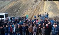 İŞ BIRAKMA EYLEMİ - Şirvan Maden Ocağında İş Bırakma Eylemi