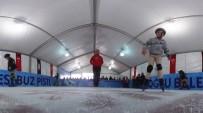 AHMET MISBAH DEMIRCAN - Kasımpaşa Sahil'de Buz Pateni Keyfi