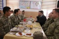 GÖZLEME - Kaymakam Yosunkaya'dan Sınır Karakolunda Askerlere Moral Ziyareti