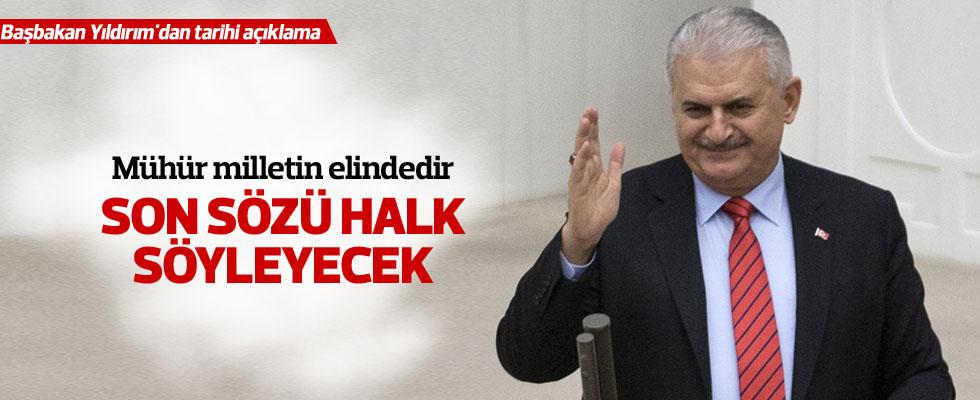 Başbakan Yıldırım'dan tarihi açıklama