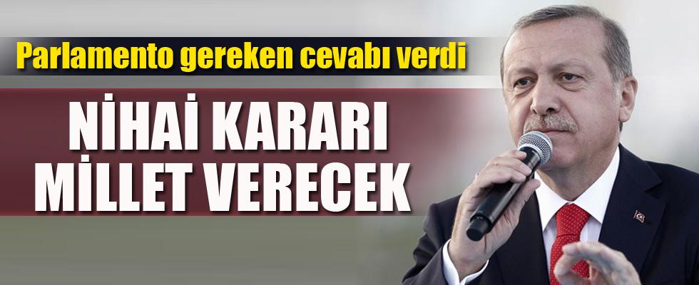 Erdoğan'dan Cumhurbaşkanlığı sistemi açıklaması