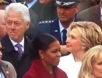 HİLLARY CLİNTON - Hillary Clinton'ın eşi Bill'in bakışlarını yakalaması olay oldu