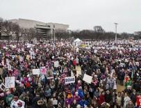 TEKERLEKLİ SANDALYE - ABD'de kadınlar Trump'ı protesto için yürüdü