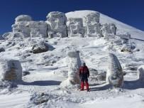 NEMRUT DAĞI - Nemrut Dağı'nda Heykeller Buz Kesti