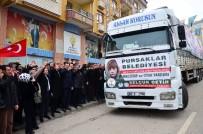 EMRULLAH İŞLER - Pursaklar'dan Halep'e Giden Tır Sayısı 34'E Yükseldi