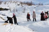 KUŞ YUVASI - AK Partili Kadınlar Yaban Hayvanları İçin Yem Bıraktı