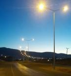 AYDINLATMA DİREĞİ - Dicle Elektrik Dağıtım Kurtalan Çevre Yolunu Aydınlattı