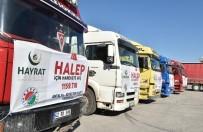 YARDIM KONVOYU - Kepez'den Halep'e 10 TIR İnsani Yardım