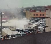 Rize'de Hastane Otoparkında Yangın