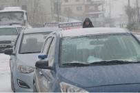 SÜRÜCÜ KURSU - Sürücü Adaylarının Karla İmtihanı