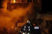 İTFAİYE ERİ - Antalya'da Çıkan Yangın 2 Katlı Evi Kül Etti