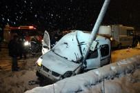 ŞAH İSMAIL - Kar Kaza Yaptırdı Açıklaması 2 Ölü, 1 Yaralı
