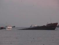 KURU YÜK GEMİSİ - Marmara'da gemi batıyor