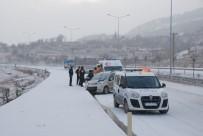 Tokat'ta Kar Yağışı Ve Buzlanma Kazalara Yol Açtı