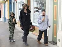 NOEL - Angelina Jolie çocuklarıyla kayak tatilinde