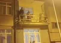 Elazığ'da Şüpheli Şahıs, Çıktığı Balkondan İnemeyince Yakalandı