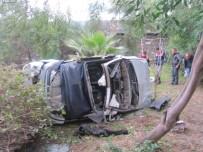 ALAADDIN KEYKUBAT - Alanya'da Otomobil Şarampole Devrildi Açıklaması 1 Ölü