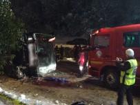 OTOBÜS ŞOFÖRÜ - Bartın'da 3 Kişinin Öldüğü Otobüs Kazası Güvenlik Kamerasında