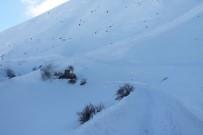 Bayburt'ta Çığ Köy Yolunu Kapattı