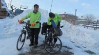 Bisikletle Dünya Turu Kar Engeline Takıldı