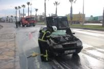 GÜMBET - Bodrum'da Otomobil Bir Anda Alev Aldı