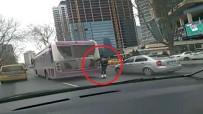 BÜYÜKDERE - İstanbul Trafiğinde Tehlikeli Yolculuk