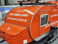 KAR MOTOSİKLETİ - Karavandan kar ambulansı üretildi