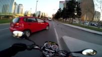 BÜYÜKDERE - Motosiklet Kazası Kask Kamerasında