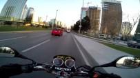 BÜYÜKDERE - Motosiklet Kazası Kamerada