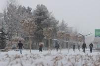 KAR ÖRTÜSÜ - Elazığ'da Kar Yağışı Etkisini Göstermeye Başladı