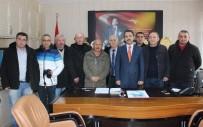 SALIH ŞAHIN - Gazetecilerden Yeni Kaymakama Ziyaret