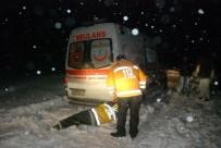 Kara Saplanan Ambulans Kurtarıldı