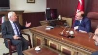ŞERİT İHLALİ - Belediye Başkanı Yıldırım'dan Köken'e Ziyaret