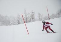 Ovacık'ta Kayak Yarışması Renkli Görüntülere Sahne Oldu