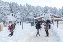 BAĞBAŞı - Denizli Teleferik'te Kar Keyfi