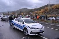 LOKMAN HEKIM - Fethiye'de Kazaya Müdahale Eden Polislere Otomobil Çarptı; 3 Yaralı