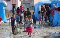 AZEZ - Savaştan Kaçan Suriyeli Ailelerin Çadırda Yaşam Savaşı