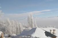 BUZ SARKITLARI - Başkale'de Soğuk Havanın Oluşturduğu Kar Manzarası