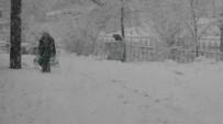 KOCABAŞ - Çan'da Yoğun Kar Yağışı