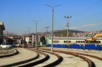 HANLı - Tramvayda Enerji Hattı Direkleri Monte Ediliyor