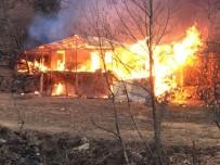 AHŞAP EV - Artvin'de Çıkan Yangında Ev Kül Oldu